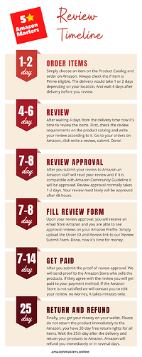 Review Timeline - Infographics