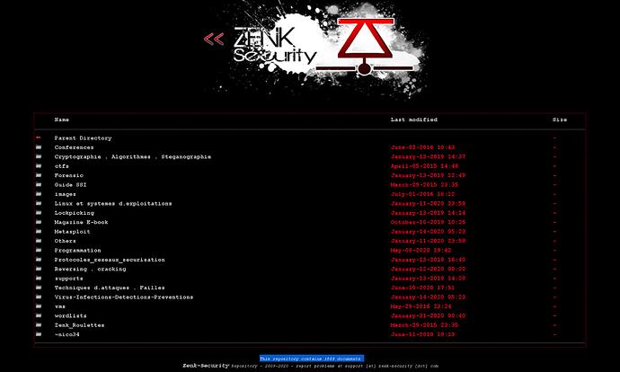 Zenk - Security - Repository