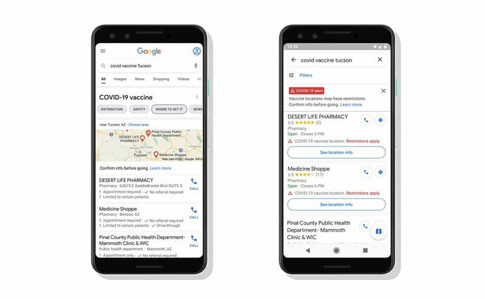 Google Maps Will Soon Show COVID Vaccine Locations