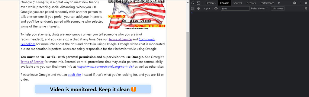 Is it keep omegle clean monitored video Omegle investigation