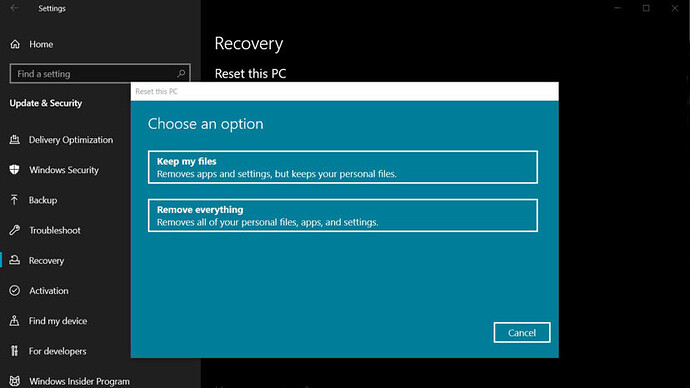 How To Factory Reset Windows 10 Operating System - Google Drive Links