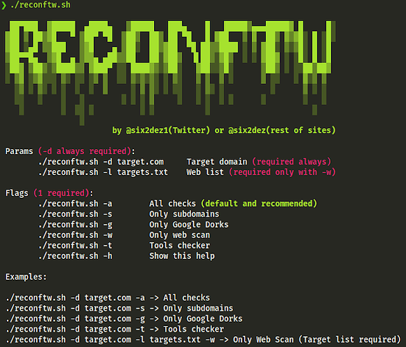 Reconftw | Simple Script For Full Recon