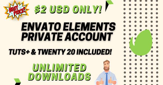 ENVATO ELEMENTS PRIVATE ACCOUNT (1)