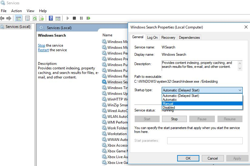 Disable-Windows-search-service