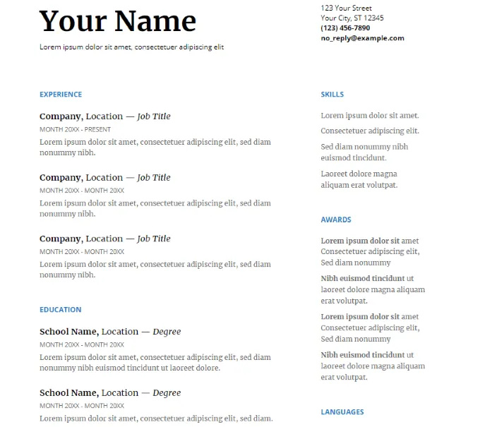 how to use google docs resume templates for job