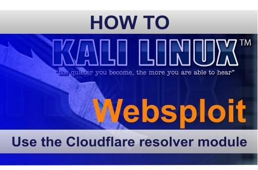 Websploit-Cloudflare-Resolver-module-Kali-Linux